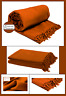 Terracotta Honeycomb (Waffle)  100% Cotton Sofa Throws / Bed Throws in 5 Sizes