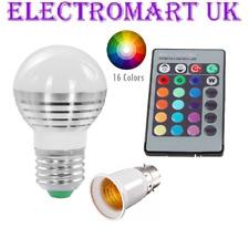 Control Remoto 3 W LED RGB Bombilla De Cambio De Color luz cambiante BC es 16 Colores