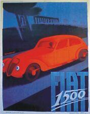 """TARGA VINTAGE """"AUTOMOBILE FIAT 1500"""" Pubblicità, Car Advertising, Poster, Plate"""