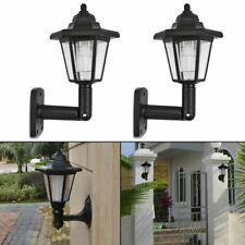 2x Solar Garden Door LED Light Wall Landscape Mount Garden Fence Outdoor Light