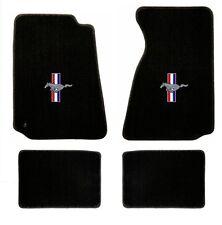 NEW! 1994-2004 Ford Mustang BLACK Floor mats with Logo Set of 4 Carpet RWB Logo