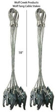 (2) Dozen Wcp Wolf Fang Trapping Anchor Cable Stakes - 18""