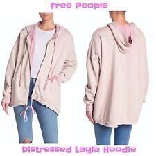Free People Distressed Layla Hoodie Jacket NWOT