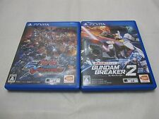 With Card. Vita Gundam Breaker 2 And EXTREME VS-FORCE 2 Set. Japanese Version