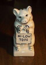 "Vintage Ceramic Piggy Bank - Pig w/ Purse ""Hi-Low Tops""  - 6"""