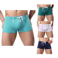 Men's Summer Swimming Briefs Solid Swim Shorts Trunks Swimwear Pants Board Short