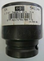 "KD 541344 3/4"" Drive 1-3/8"" 6 Point Impact Socket USA"