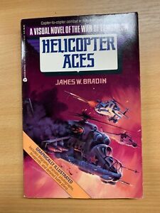 """1990 JAMES W BRADIN """"HELICOPTER ACES"""" GRAPHIC VISUAL NOVEL FICTION P/B BOOK (P3)"""