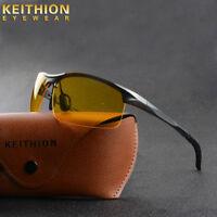 Aluminium Men HD Polarized Sunglasses Night Vision Driving Soprts Glasses