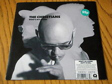 """THE CHRISTIANS - WHAT'S IN A WORD   7"""" VINYL PS"""