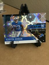 2018 Unparalleled Kerryon Johnson RC ROOKIE CARD GALACTIC PRIZM SSP (CASE HIT)!