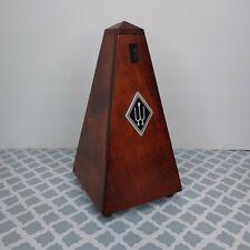 Wittner 811M Pendulum Pyramid Metronome with Bell - Mahogany Finish