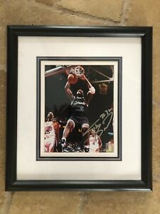 SHAQUILLE O'NEAL SIGNED AUTOGRAPHED 8x10 PHOTO ORLANDO MAGIC FRAMED STEINER COA
