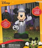 3.5' Gemmy Airblown Inflatable Disney Mickey Mouse in Gray Suit Halloween Decor