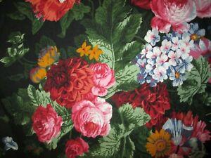 Rare Ralph Lauren Isadora Cossette Black Floral Comforter Duvet Cover - Twin