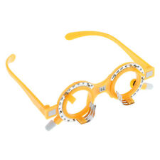 High Quality Plastic Yellow Optical Lens Trial Frame Eyeglass Optometry 64mm
