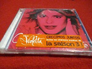 "CD NEUF ""VIOLETTA - CRECIMOS JUNTOS"" toutes les chansons inedites de la saison 3"