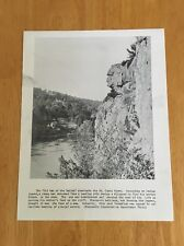 Vintage Wisconsin Historical Society Print Old Man of the Dalles Indian Legend