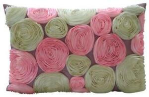 """12""""x18"""" Art Silk Pink Lumbar Rectangle Throw Oblong Pillow Cover - Blossom Bloom"""