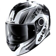 NEW SHARK Helm Spartan Karken weiß Gr. L = 59/60 Motorradhelm Sonnenblende