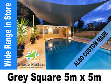 New Extra Heavy Duty Shade Sail- Square  5m x 5m Grey Color Also Custom Made
