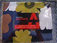 PERRY ELLIS AMERICA KING DUVET COVER MINI SET W/ 2 PILLOW SHAMS NIP