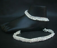 INDIAN BELLYDANCE WOMEN BRACELET SILVER PLATED BOLLYWOOD ANKLET FOOT CHAIN PAYAL