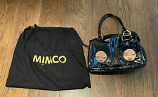 MIMCO | WOMENS BLACK PATENT | TURNLOCK ZIP BAG ROSE GOLD AUTHENTIC BNWT RRP $499