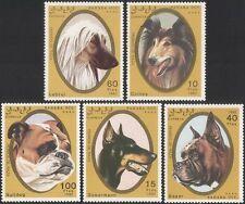 Sahara Occ 1992 Collie/Doberman/Bulldog Perros Mascotas/animales/naturaleza 5v Set (s2630)