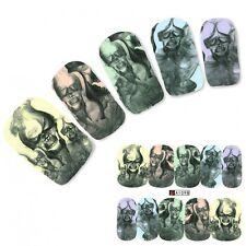 Nagel Sticker Tattoo Nail Art Totenkopf Horror Aufkleber