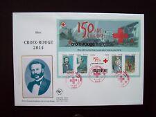 2014_ENVELOPPE 1er JOUR_FDC_GRAND FORMAT_BLOC CROIX-ROUGE.