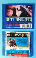 1983 Topps  Star Wars Return of the Jedi Sticker Pack - pochette bustina tüte V2