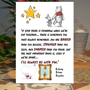 You're braver than you believe, Smarter than you think, winnie the pooh, Plaque