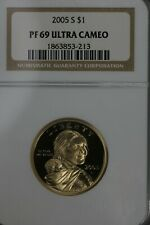2005 S $1  PF 69 Ultra Cameo NGC Native American