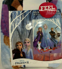 "Frozen 2 Silky Soft Throw Blanket 40"" x 50"" Disney Anna, Elsa, & Olaf NEW kids"