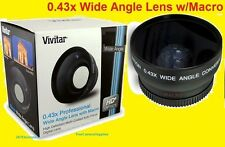 0.43X WIDE ANGLE+ 2.2X TELEPHOTO LENS+ADAPTER SONY CYBERSHOT DSC-H1 H2 H5 58mm