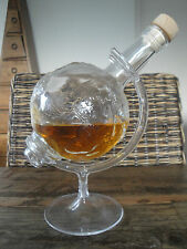 World Globe Glass Decanter Whiskey Alcohol Rum Wine Liquor Crystal