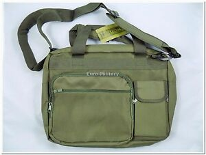 Military Army Tactical Brief Case w/ Laptop Padded Case - Olive Green - New