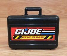 "Genuine G.I Joe ""Stay Clear"" 4"" Inch Black Gun Case with Silver Handgun Inside!"
