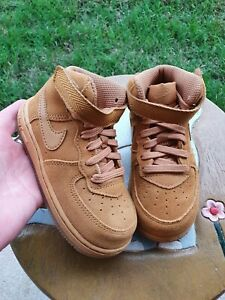 """Nike Air Force 1 LV8 Mid """"Wheat"""" BRAND NEW Toddler 7C"""