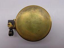 Antique 1890 Elliot Bros Brass Compass Ra Livesay Lieut-Colonel Royal Navy Major
