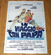 IN VIAGGIO CON PAPà manifesto poster affiche Alberto Sordi Carlo Verdone