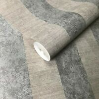 Wallpaper Gold Silver stripes Metallic Striped Textured faux plaster textures 3D