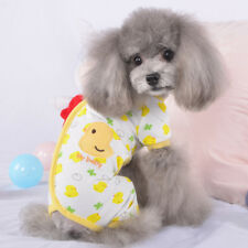 Adorable Small Pet Dog Pajamas Cotton Chihuahua Yorkie Clothes Cat Sleeping Wear