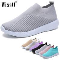 Women Sports Shoes Sneakers Fashion Slip On Sock Mesh Female Flat Casual Walking