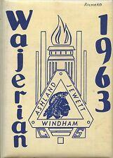 REPRINT: 1963 Windham Ashland Jewett High School Yearbook - Windham, NY