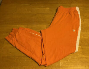 Vintage Sergio Tacchini Tracksuit Pants Sz XL Orange Joggers Windbreaker Tennis