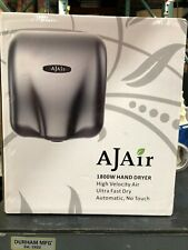 AjAir Heavy Duty Commercial 1800 Watts Hot Hand Dryer, Stainless Steel