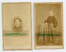 2 CDV Photos - Older Children, Boy & Girl - GILD Family (Kelloggsville, Ohio)