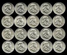 1 Roll__1956-P  Franklin Half Dollar Coins___BU/UNC___#1209LH22